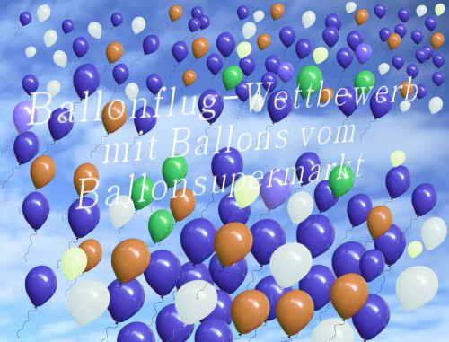 Ballonflug-Wettbewerb mit Ballons