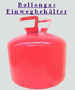 Helium Ballongas Einwegflasche