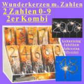 Dekoration Geburtstag mit Zahlen-Wunderkerzen
