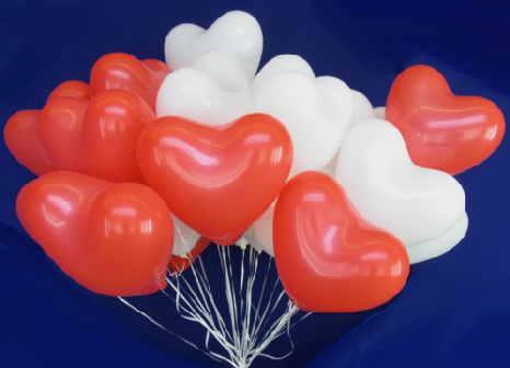 Luftballons Herzen Helium
