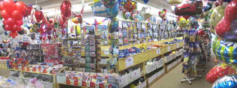 Ballonservice vom Fachhandel. Ballonsupermarkt, der riesige Ballonshop
